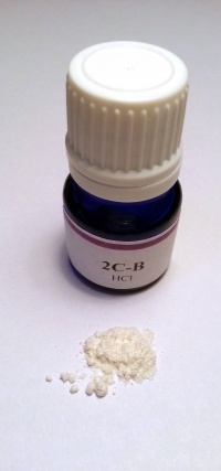 Vial of 2C-B and powder