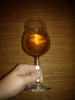home-made apple wine