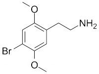 Chemical structure of 2C-B